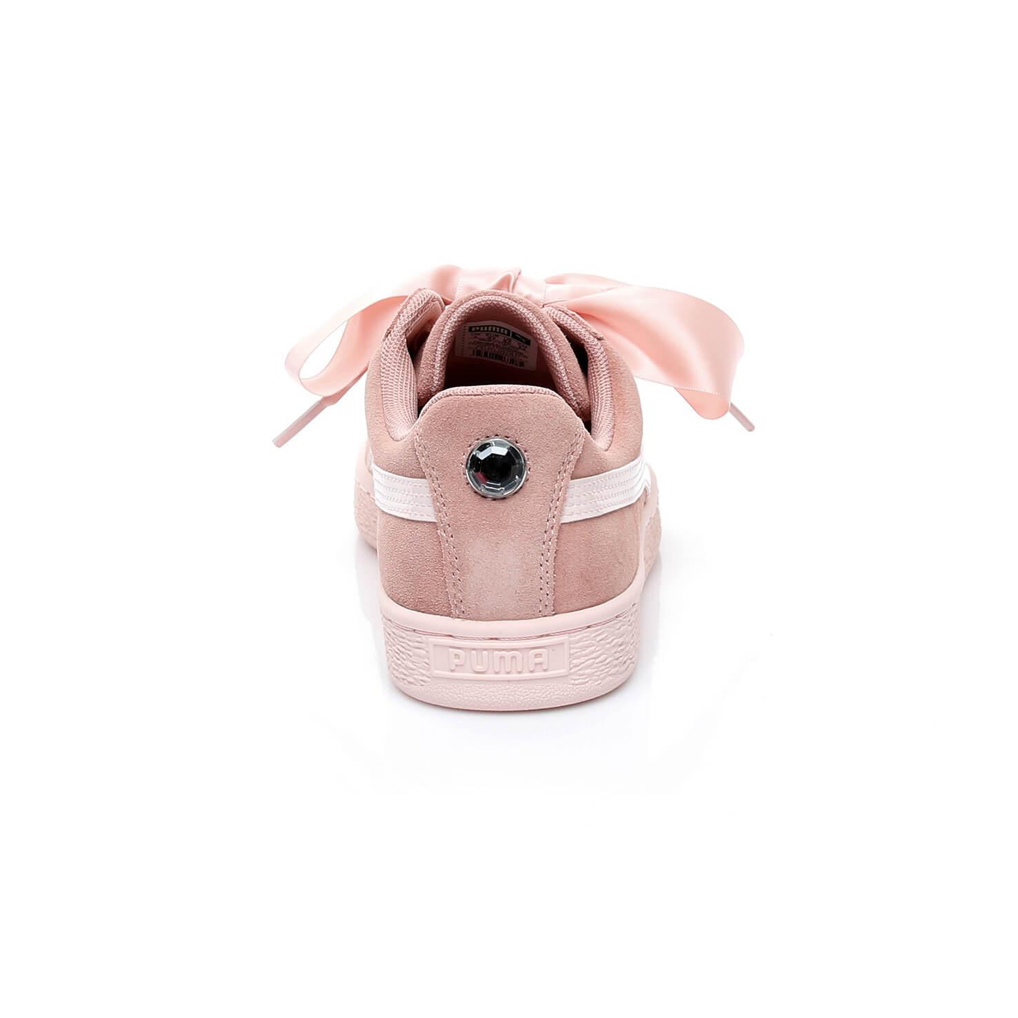 Puma Suede Heart Jewel Kadın Pembe Spor Ayakkabı