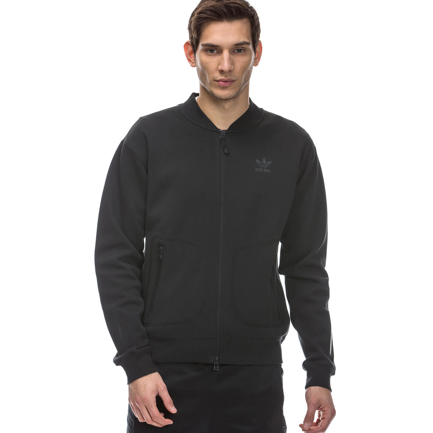 adidas Relaxed Erkek Siyah Sweatshirt