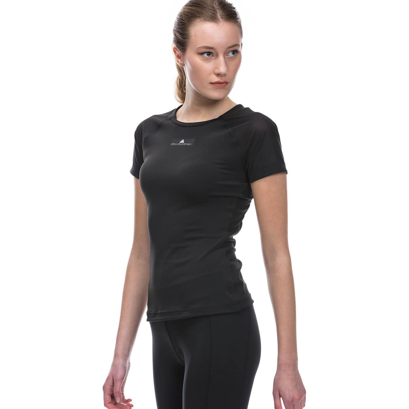 adidas Stella McCartney Training tee Kadın Siyah Tshirt