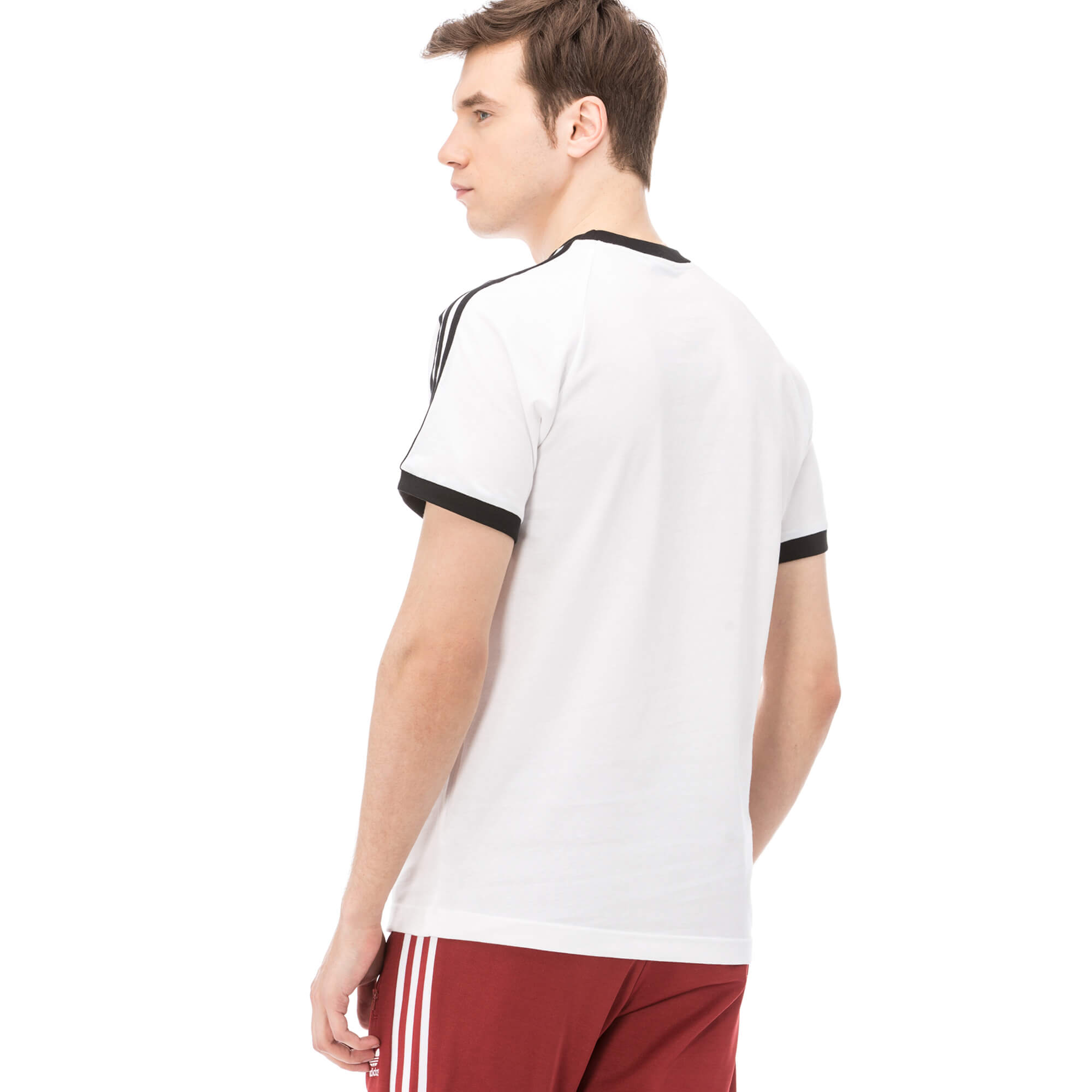 adidas 3 Stripes Tee Erkek Beyaz Tshirt