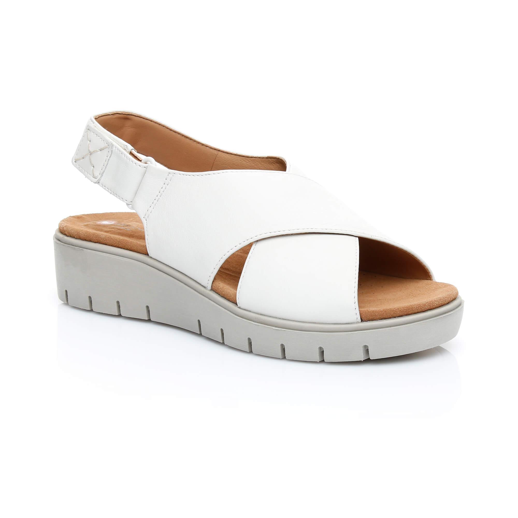Clarks Un Karely Hail Kadın Beyaz Sandalet