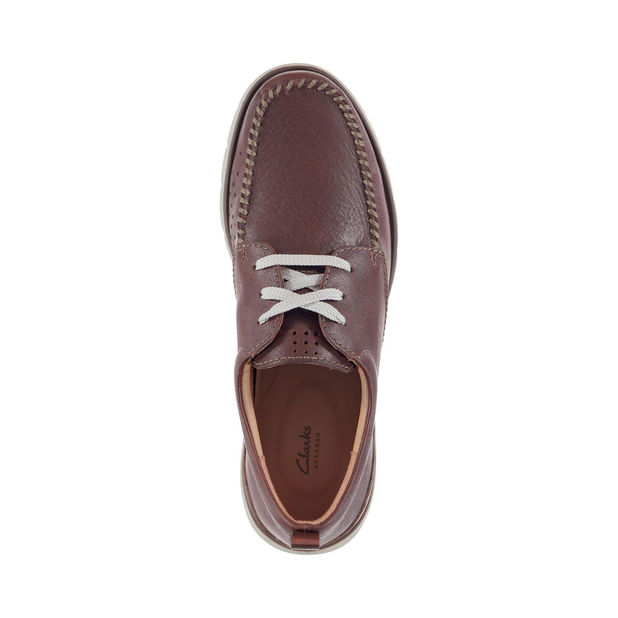 Clarks Edgewood Mix Erkek Bordo Sneakers