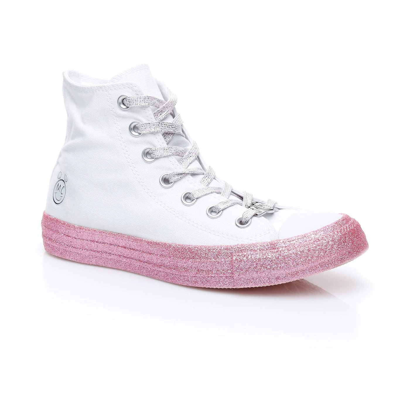 Converse X Miley Cyrus Chuck Taylor All Star ''Glitter'' Mid Kadın Beyaz Sneaker