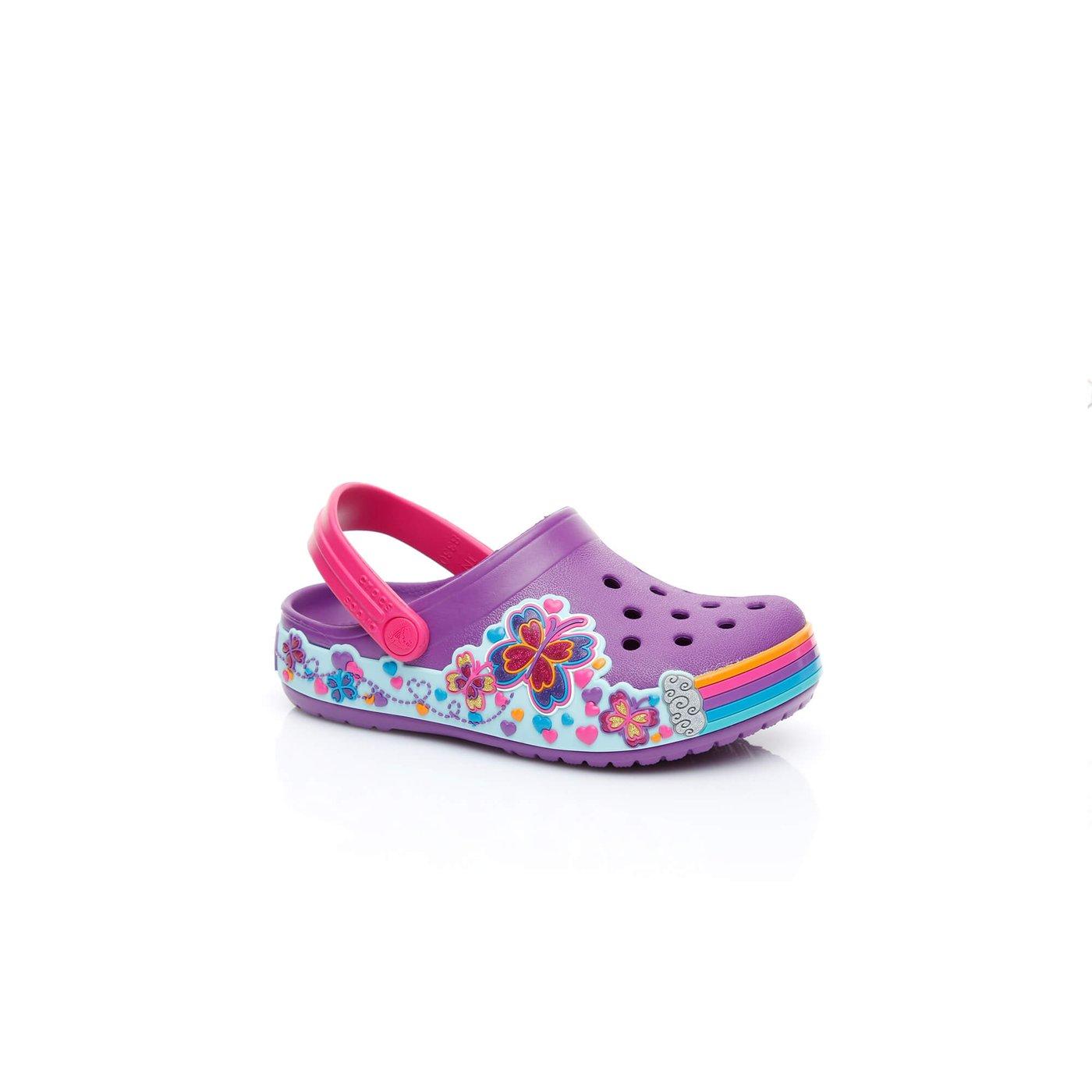 Crocs Fun Lab Graphic Clg Çocuk Mor Renkli Sandalet