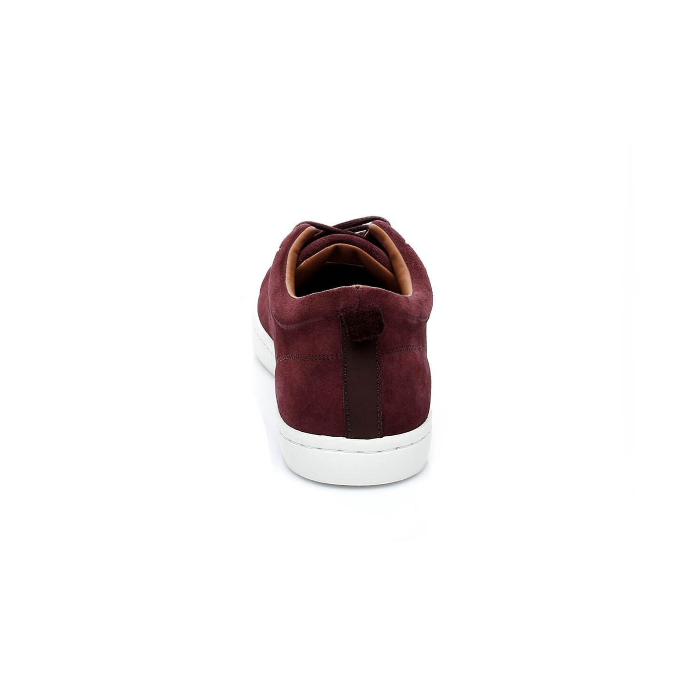 Lacoste Straightset Erkek Bordo Sneaker
