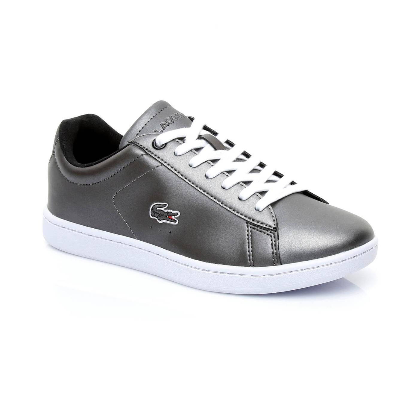 Lacoste Carnaby Evo Kadın Parlak Siyah Sneaker