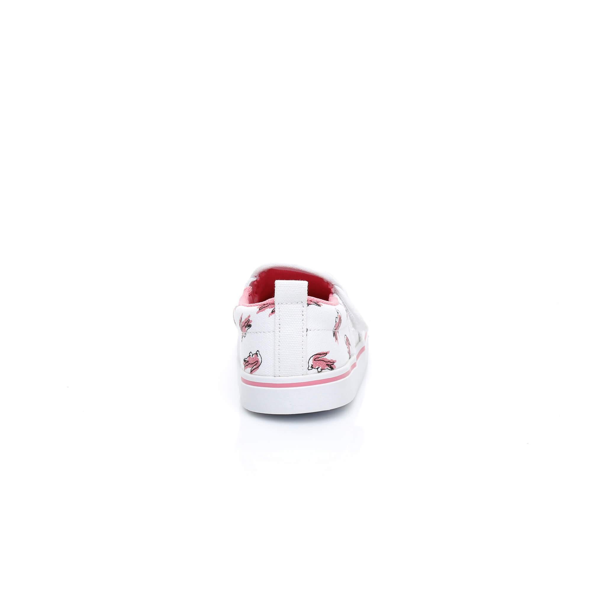 Lacoste Gazon Çocuk Beyaz - Pembe Sneaker