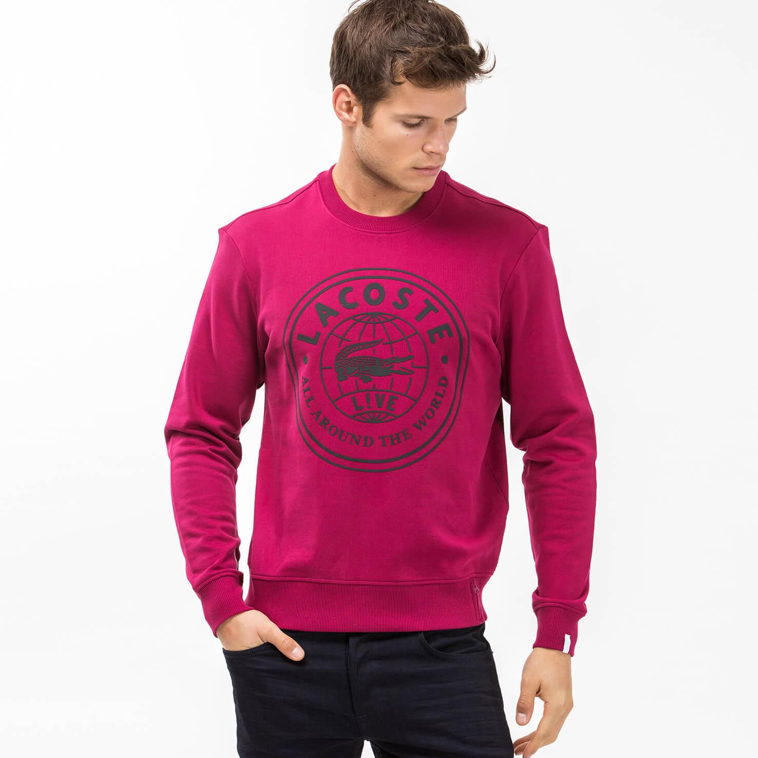 Lacoste Erkek Pembe Sweatshirt