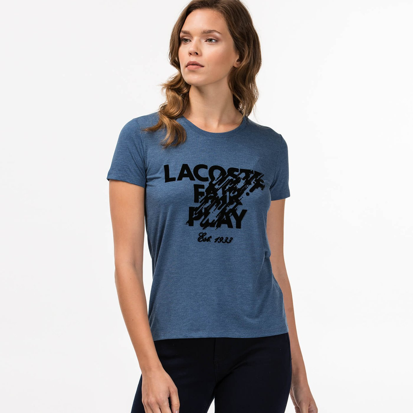 Lacoste Kadın Lacivert Tshirt