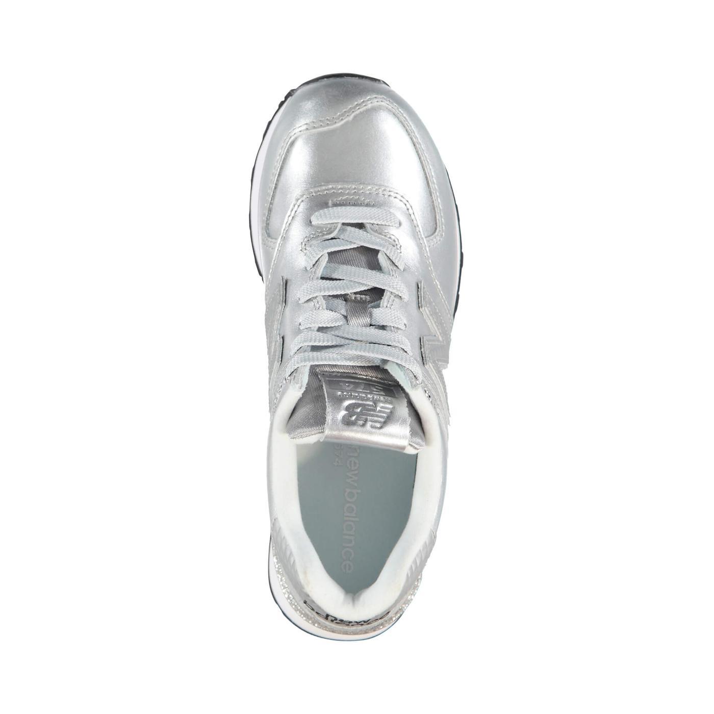 New Balance 576 Glitter Punk Kadın Gümüş Sneaker