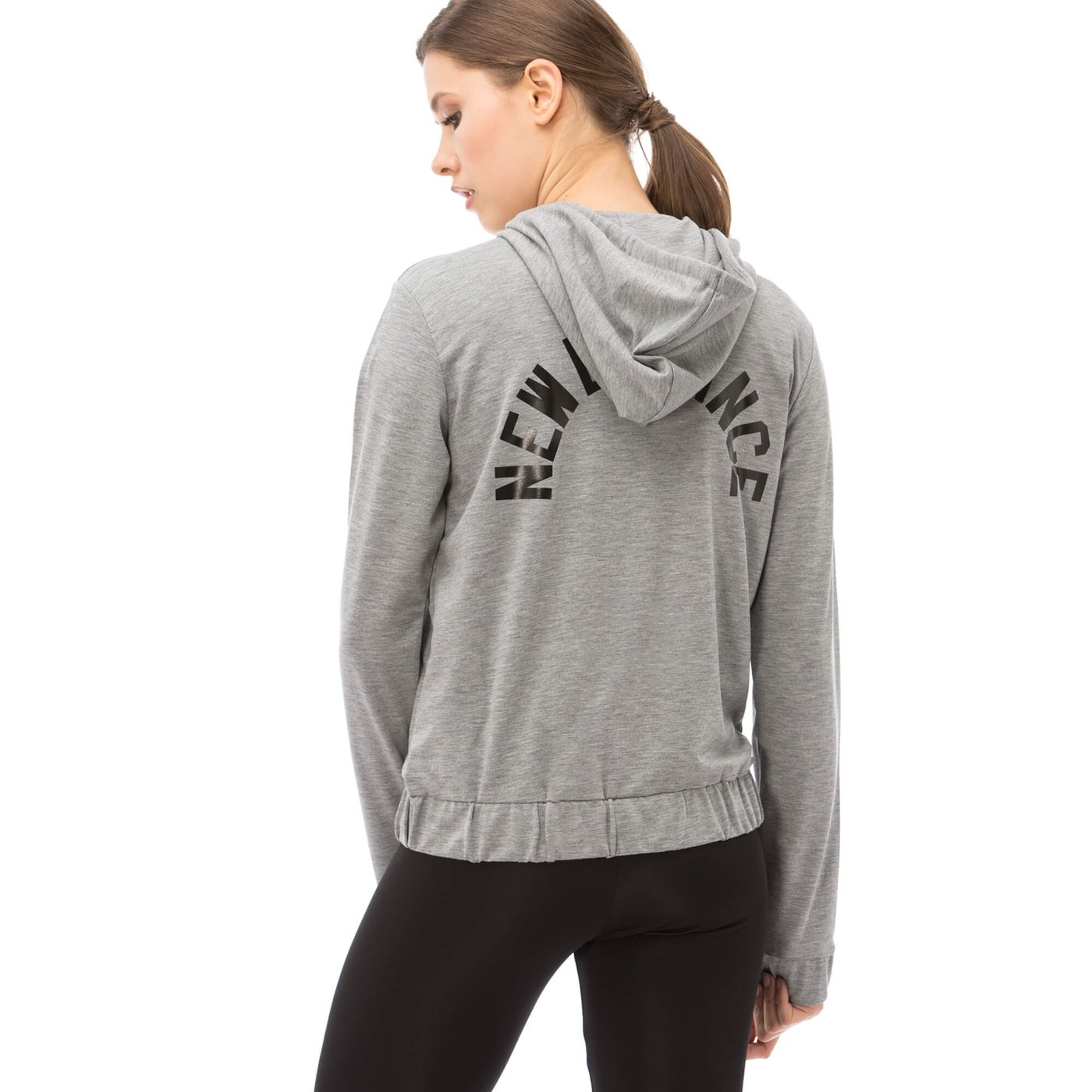 New Balance Kadın Gri Sweatshirt