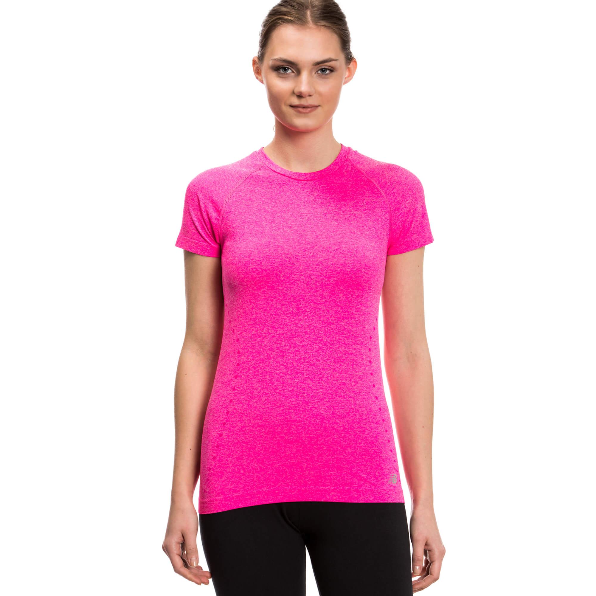 New Balance Kadın Pembe Tshirt