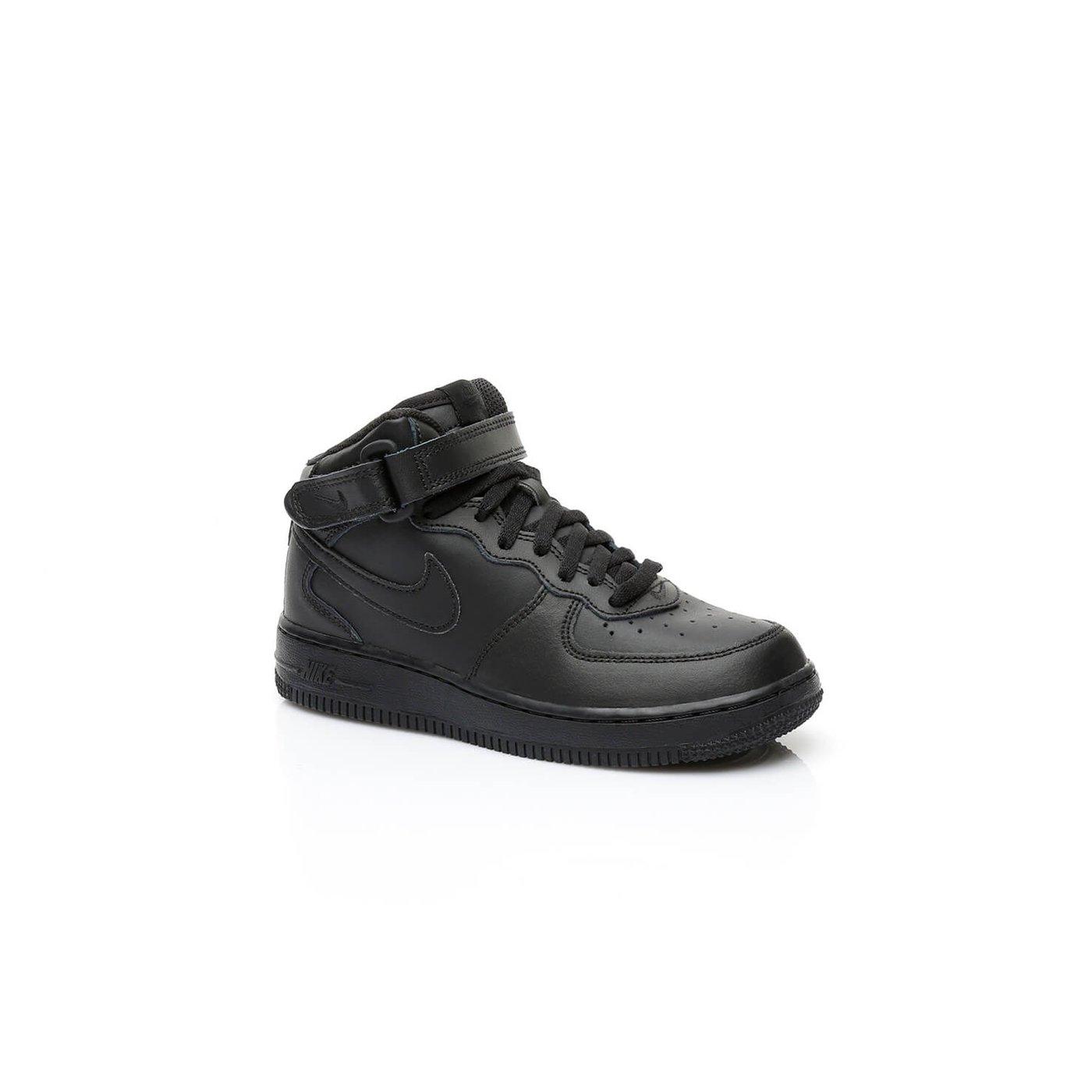Nike Force 1 Mid Pre-School Çocuk Siyah Sneaker