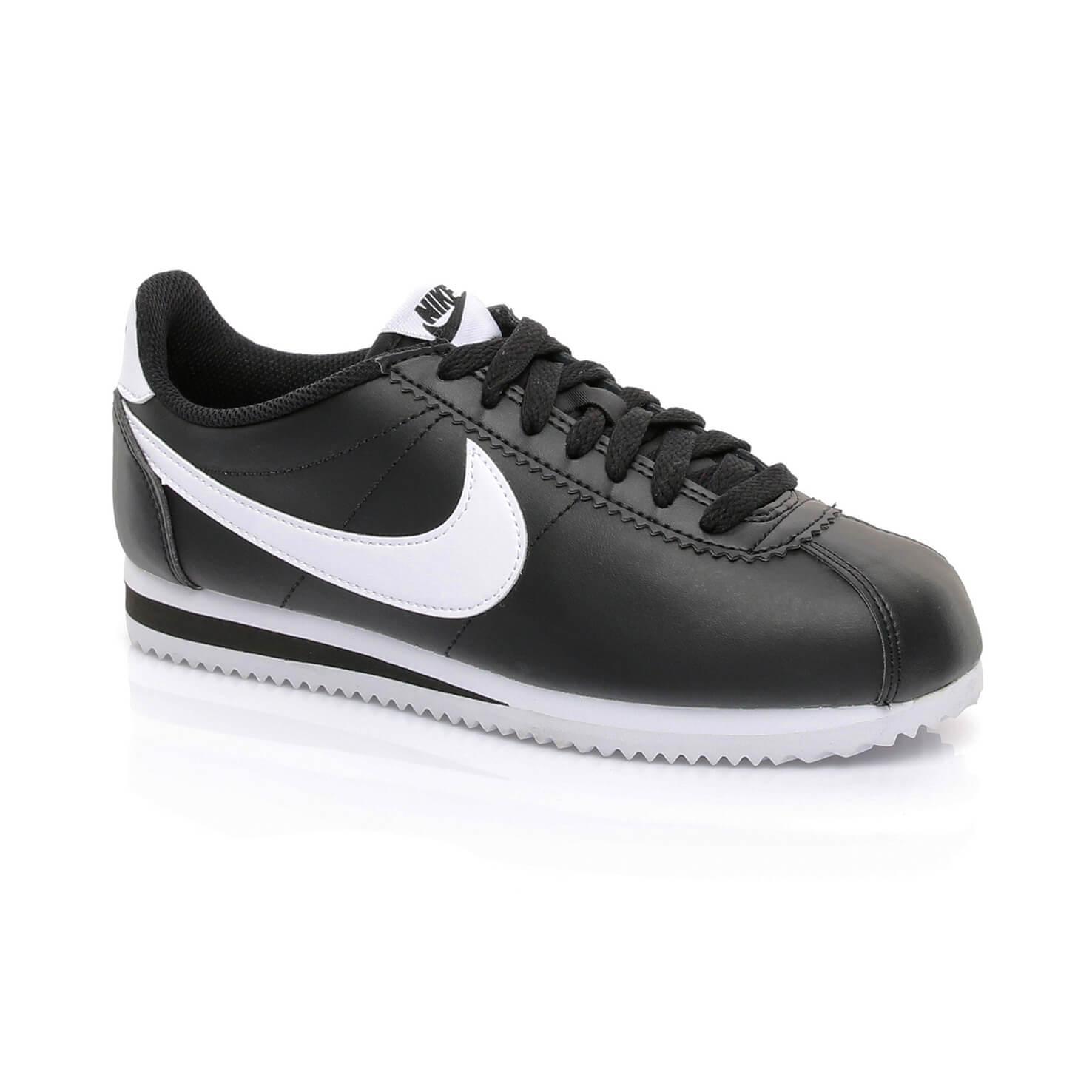 sale retailer f91d7 969e8 Nike Classic Cortez Leather Kadın Siyah Sneaker ...