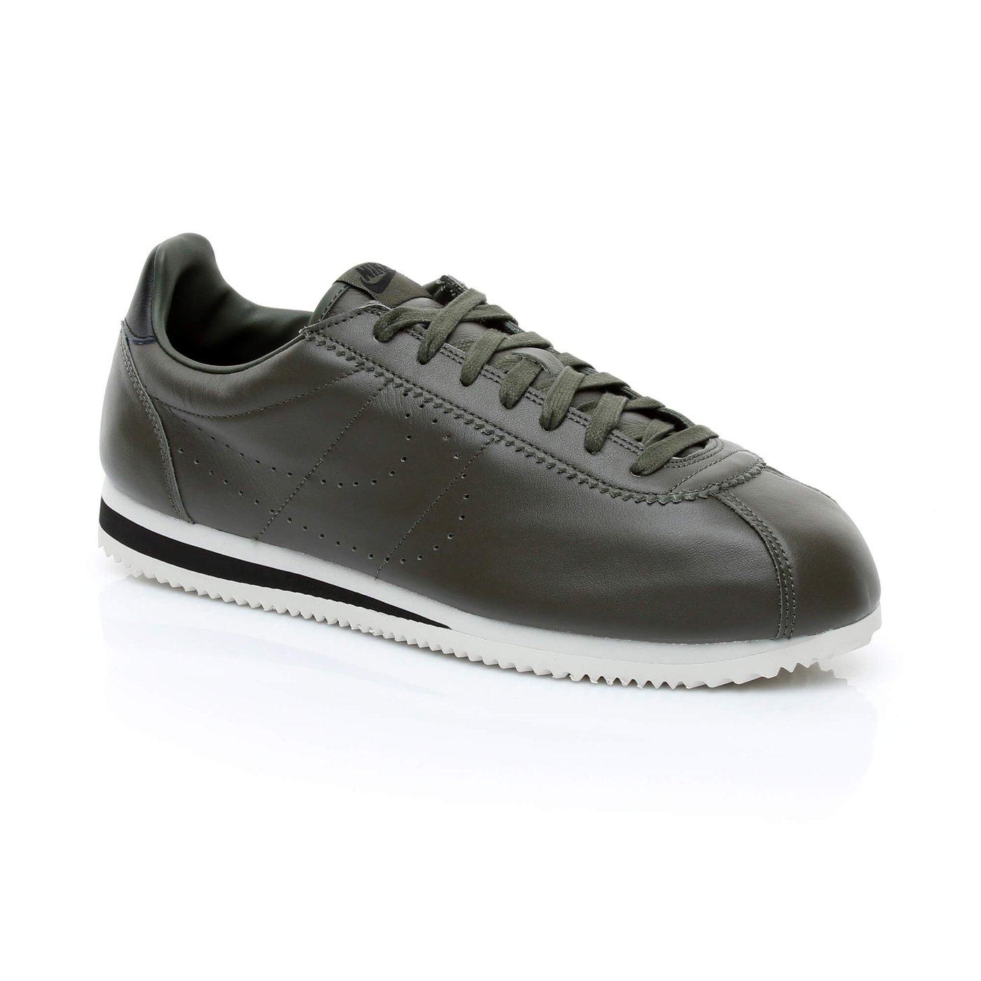 Nike Classic Cortez Leather Prem Erkek Yeşil Sneaker