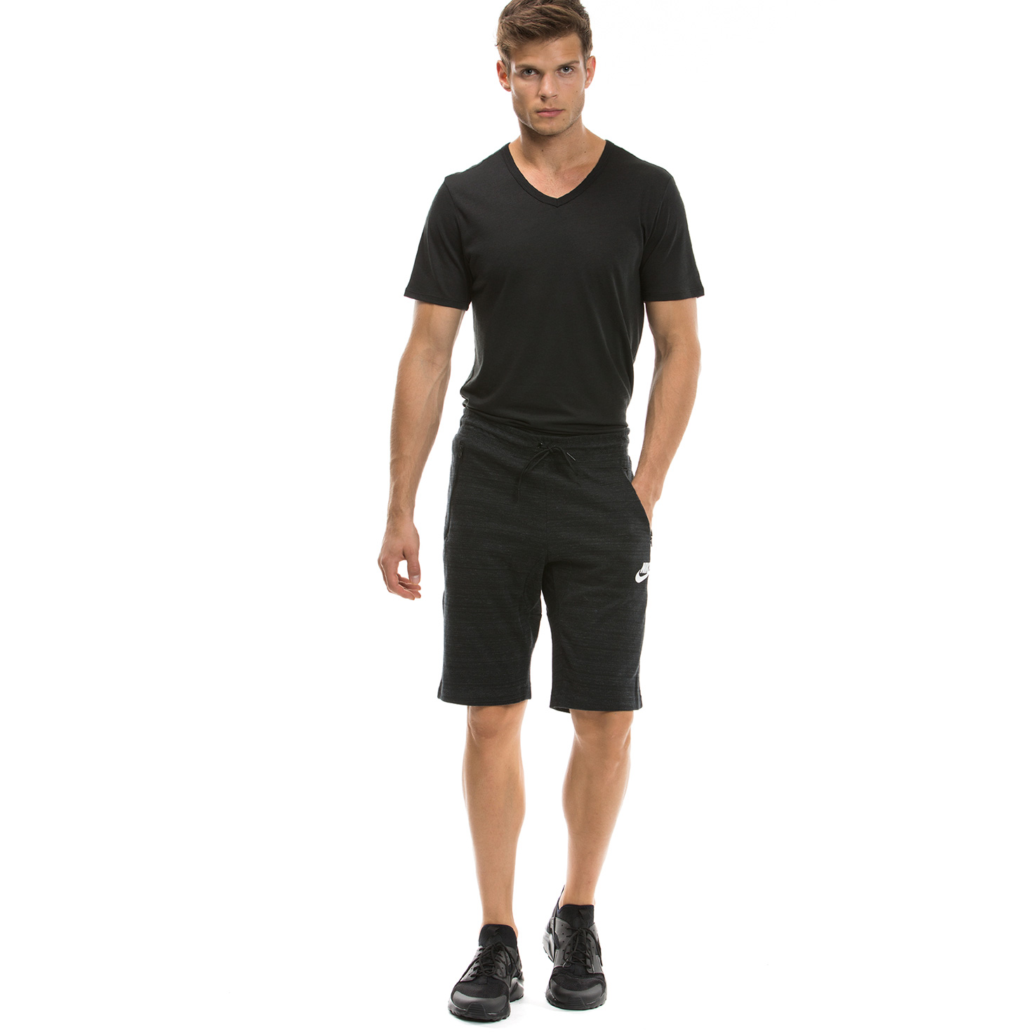 Nike Av15 Short Knit Erkek Siyah Şort