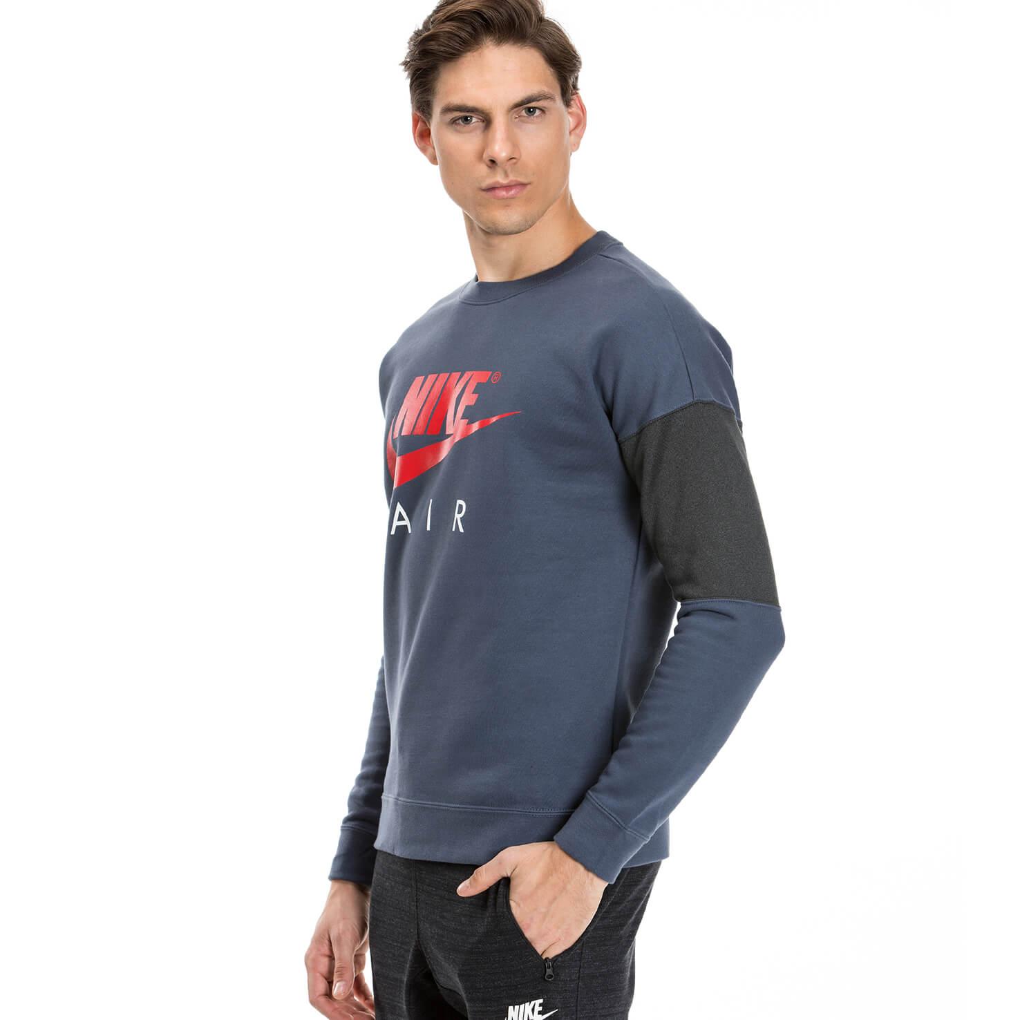 Nike Crw Ls Air Erkek Lacivert Sweatshirt