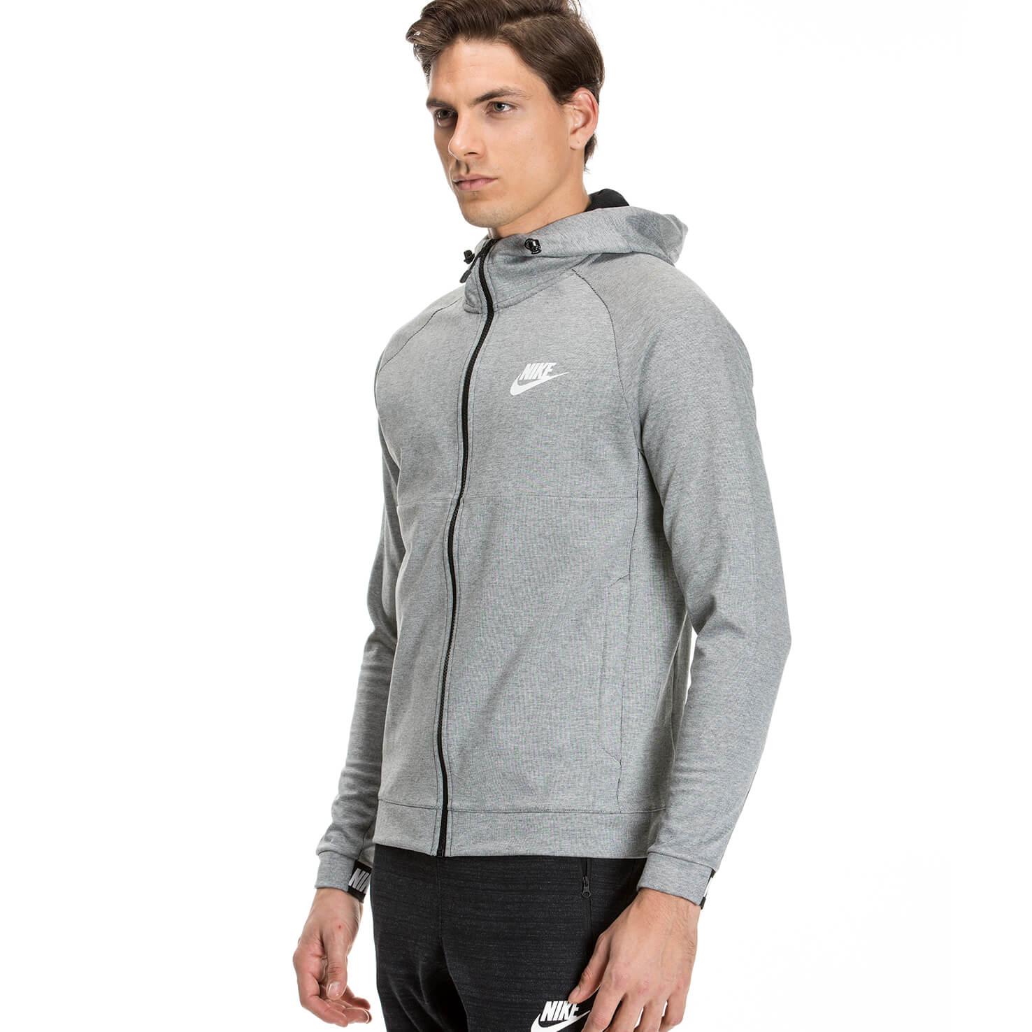Nike Av15 Crw Flc Erkek Gri Sweatshirt