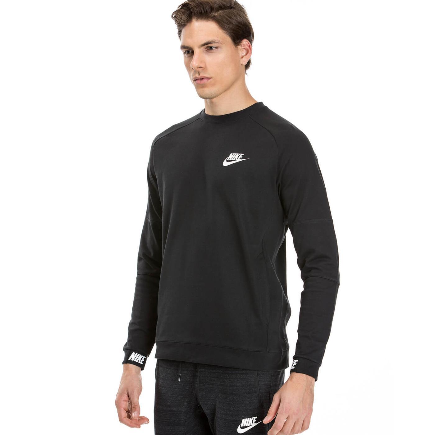 Nike Av15 Crw Flc Erkek Siyah Sweatshirt