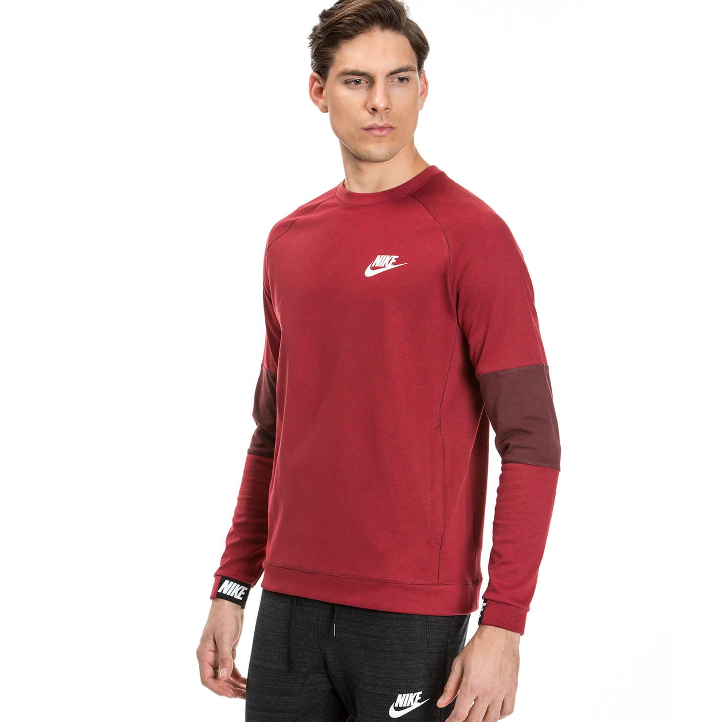 Nike Av15 Crw Flc Erkek Kırmızı Sweatshirt