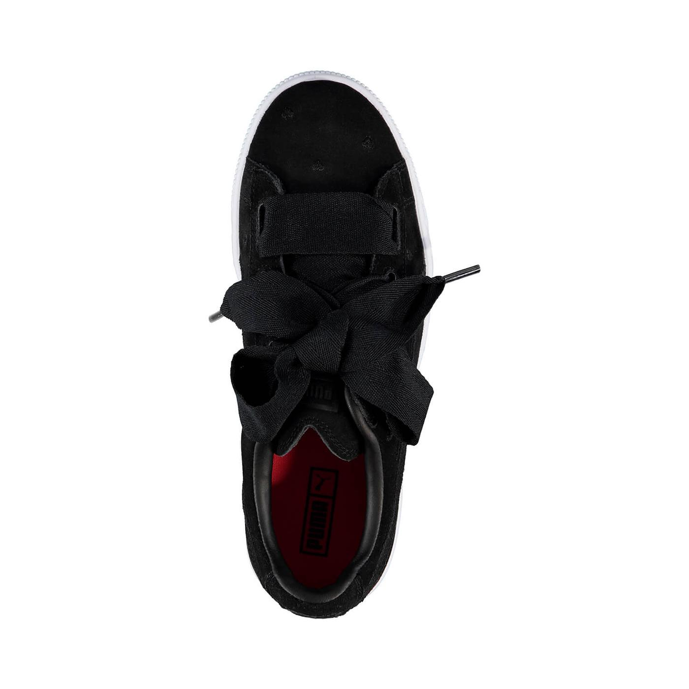 Puma Suede Heart Valentine Kadın Siyah Sneaker