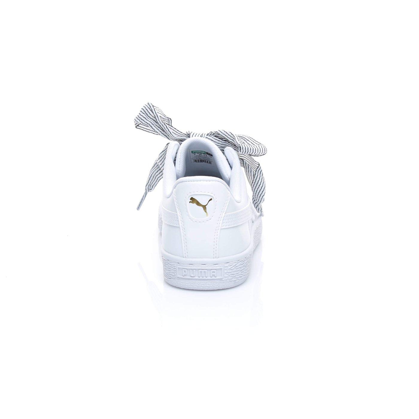 Puma Basket Heart Patent Kadın Beyaz Sneaker