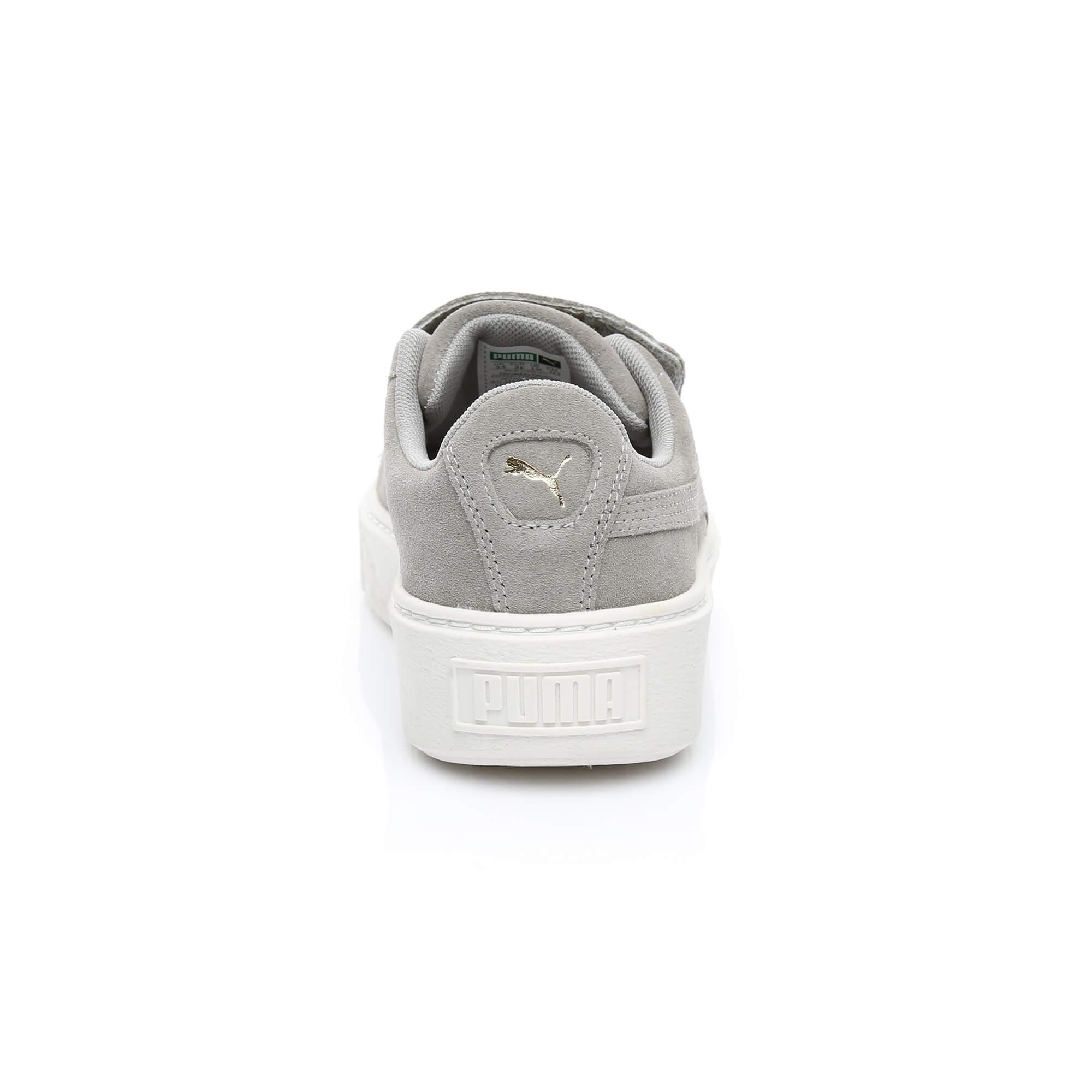 Puma Suede Platform Kadın Bej Sneaker