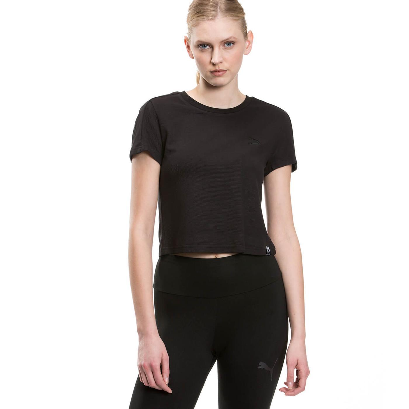 Puma Classic Structured Kadın Siyah Tshirt
