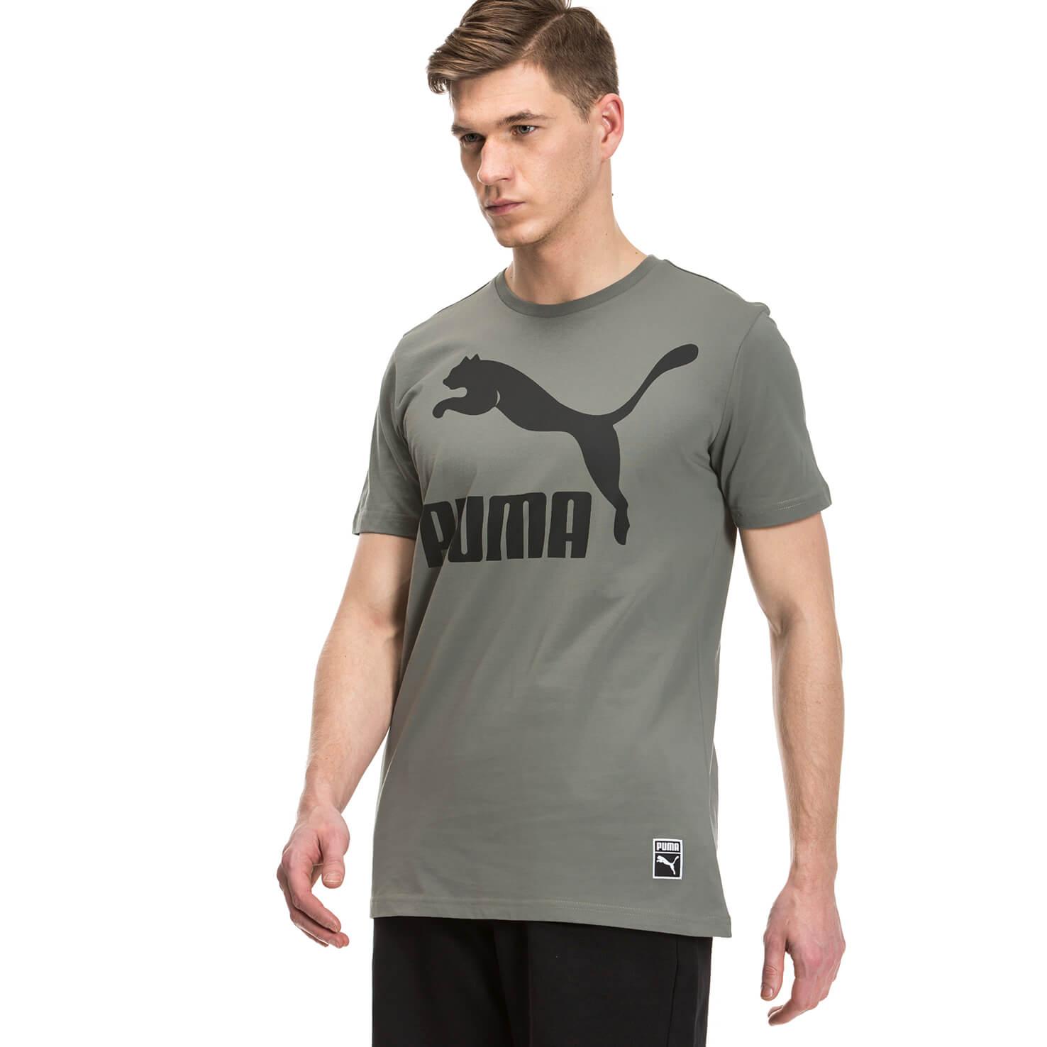 Puma Archieve Logo Erkek Gri Tshirt
