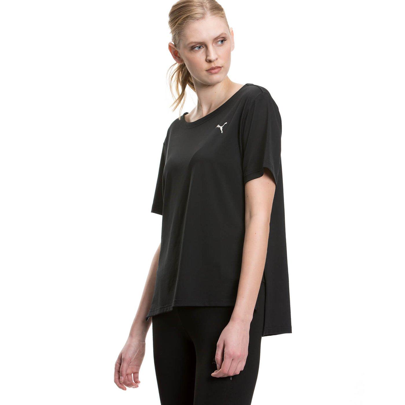Puma Transition Kadın Siyah Tshirt