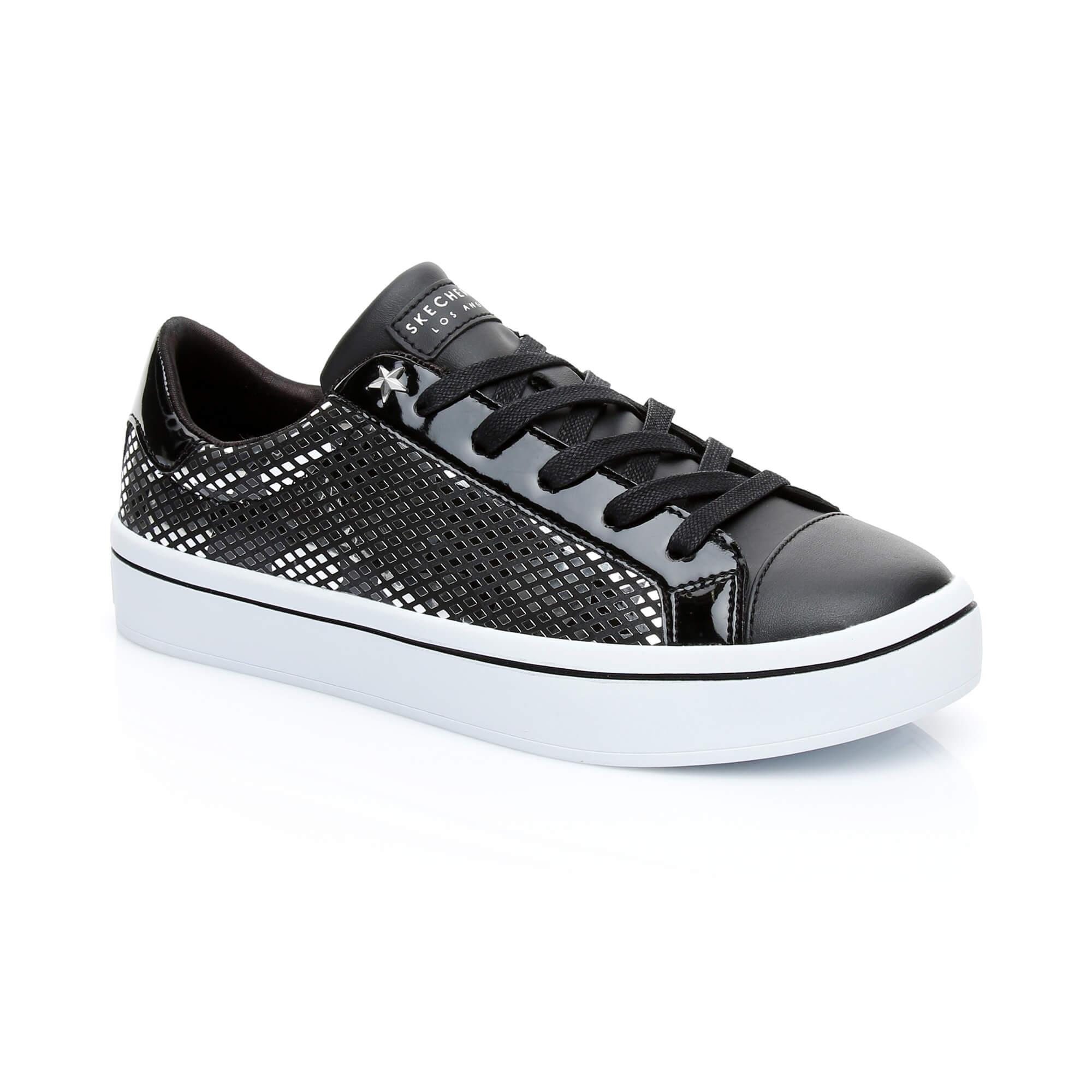 Skechers Hi Lite Shiny Star Kadın Siyah Sneaker