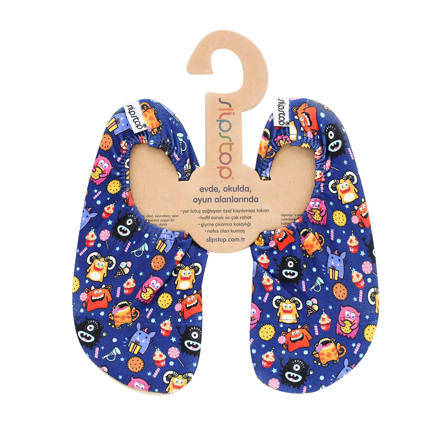 SlipStop Cookie Monster Lacivert Çocuk Havuz Ayakkabısı