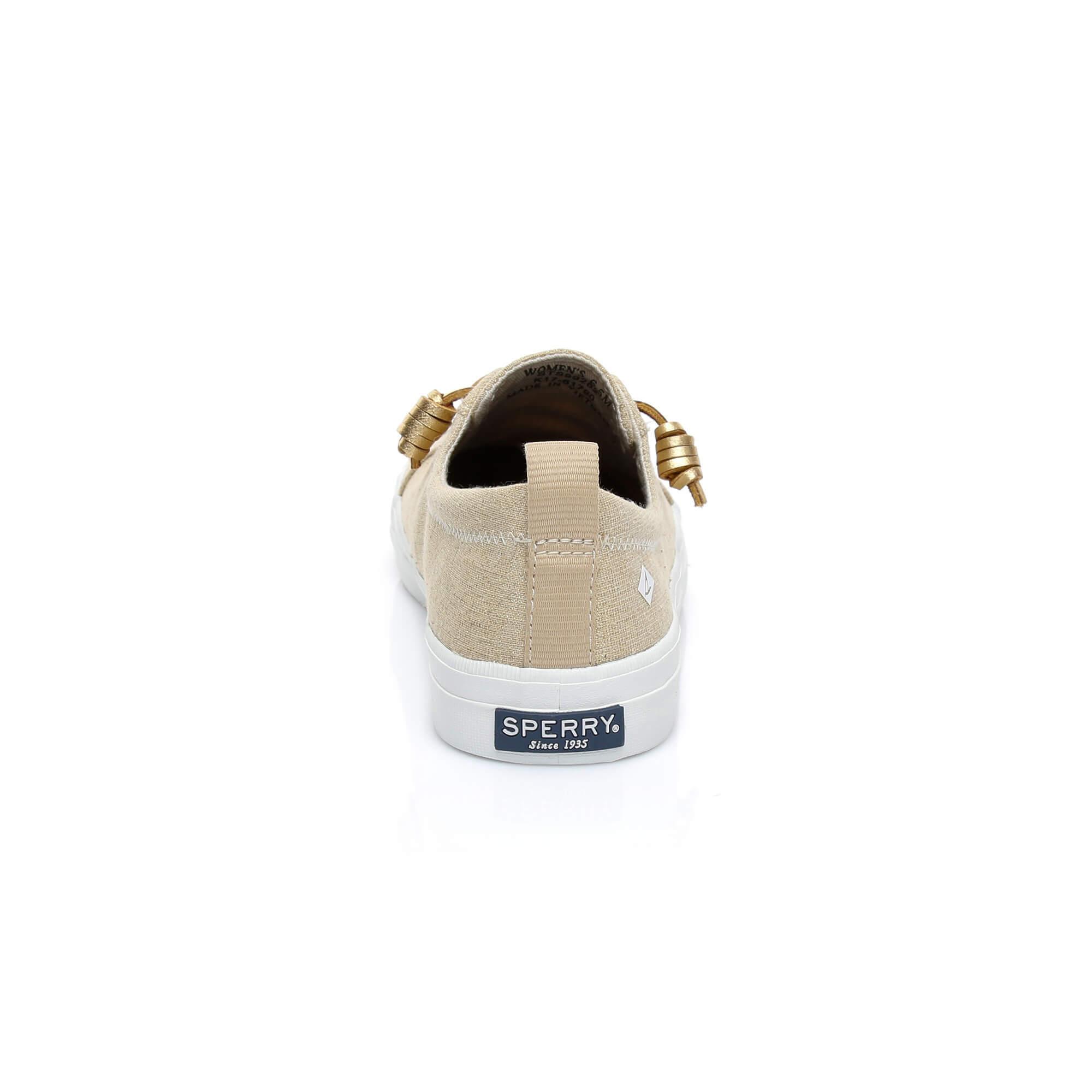 Sperry Crest Vibe Linen Kadın Bej Sneaker