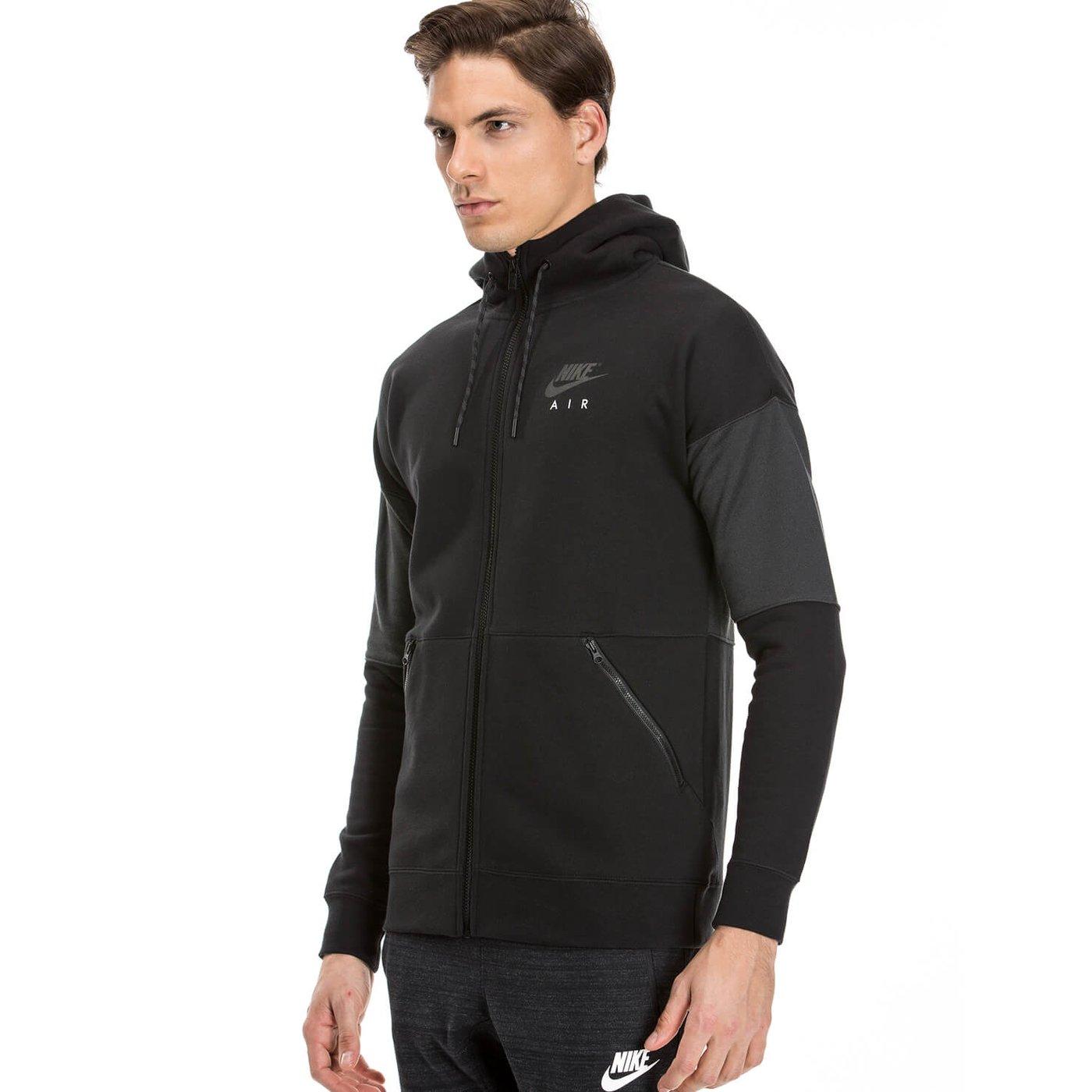 Nike Hoodie Fz Air Erkek Siyah Sweatshirt