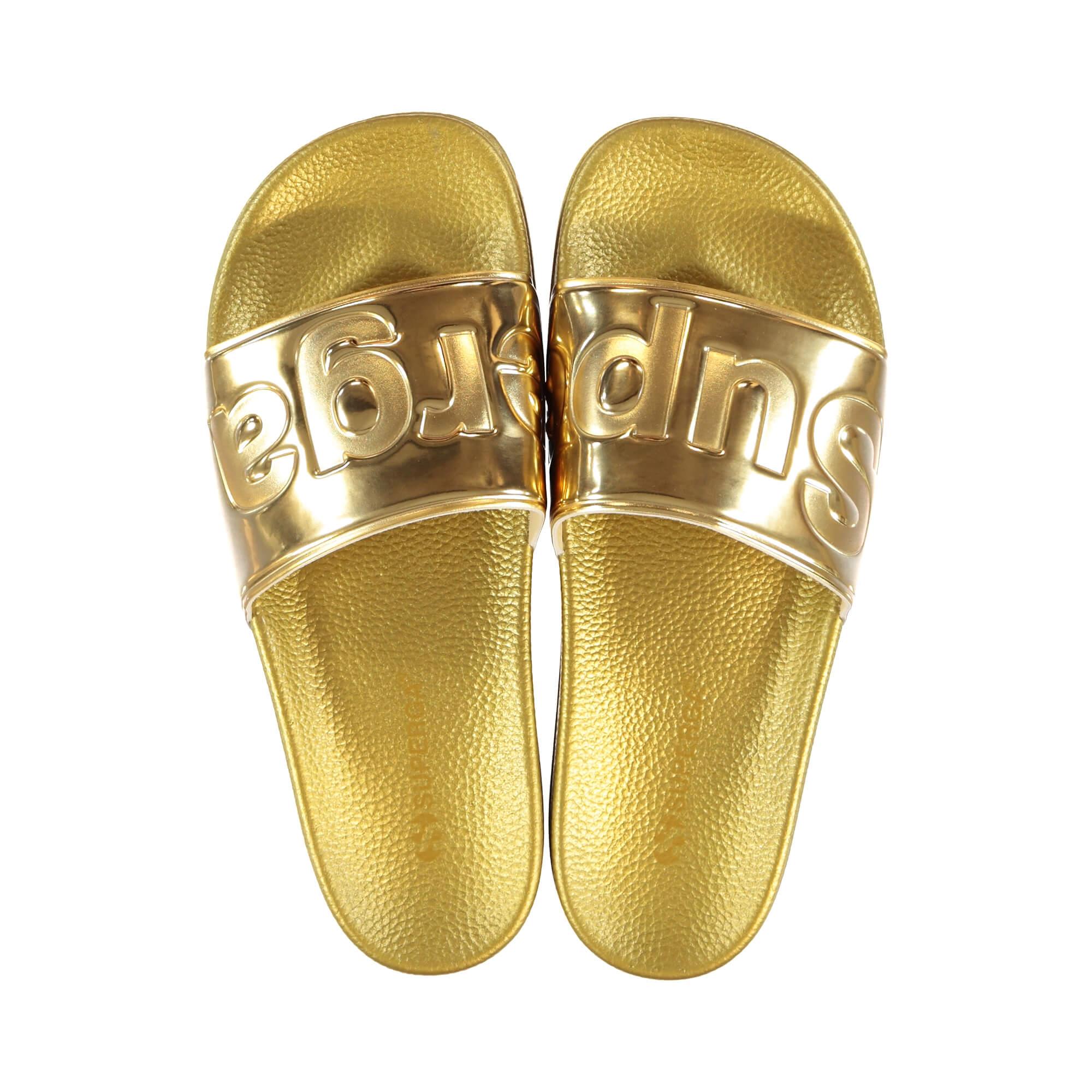 Superga 1908 Pumetu Kadın Metalik Altın Terlik