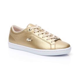Lacoste Straightset Kadın Altın Sneaker