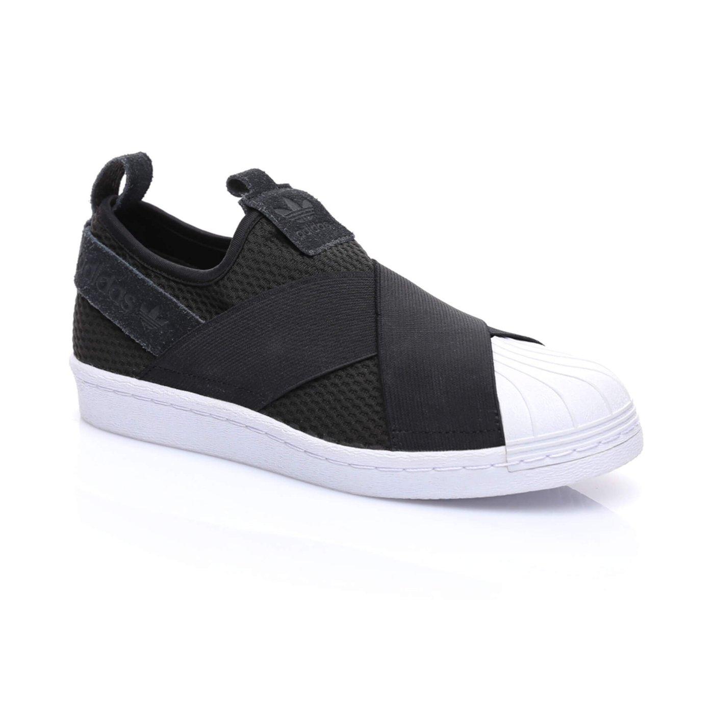 adidas SuperStar Bağcıksız Kadın Siyah Sneaker
