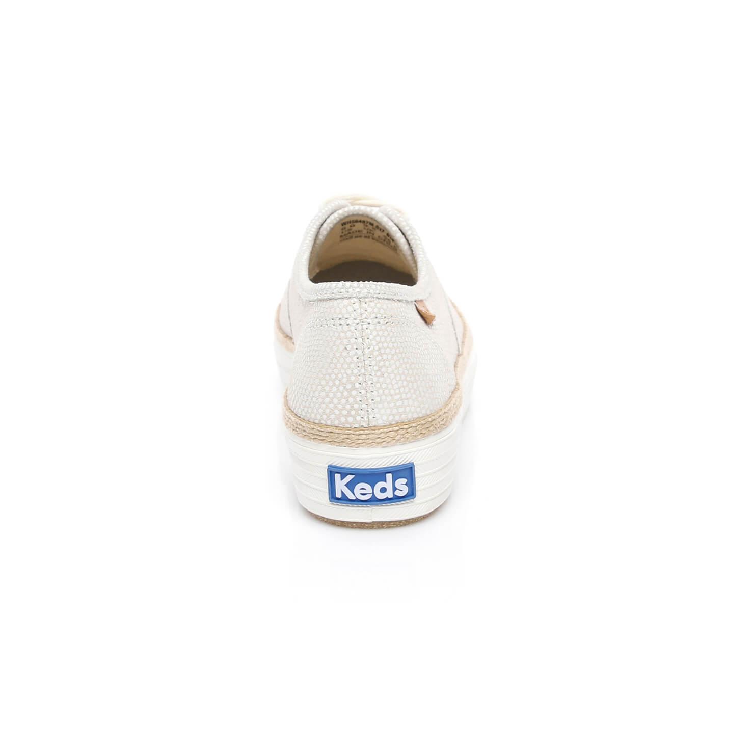 Triple Kadın Krem Sneaker