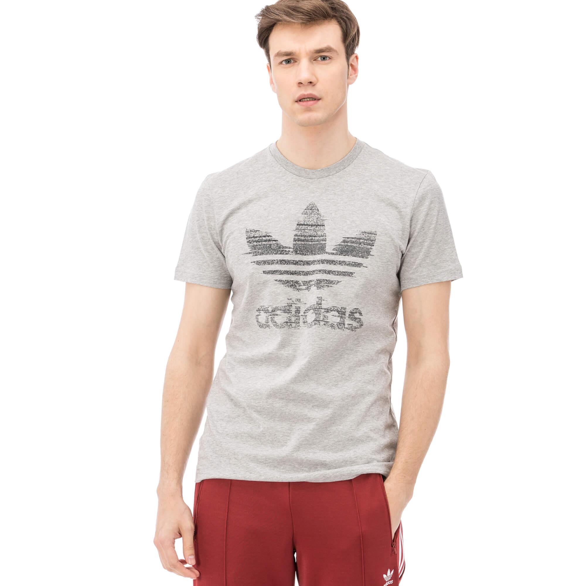 adidas Traction Trefoil Erkek Gri Tshirt