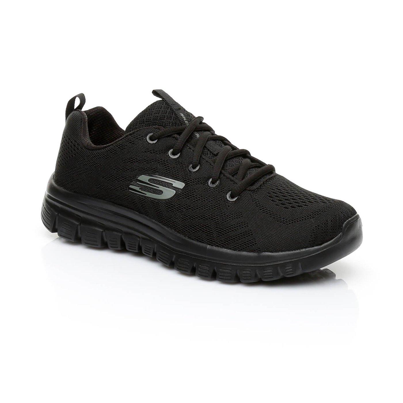 Skechers Graceful-Get Connected Kadın Siyah Sneaker