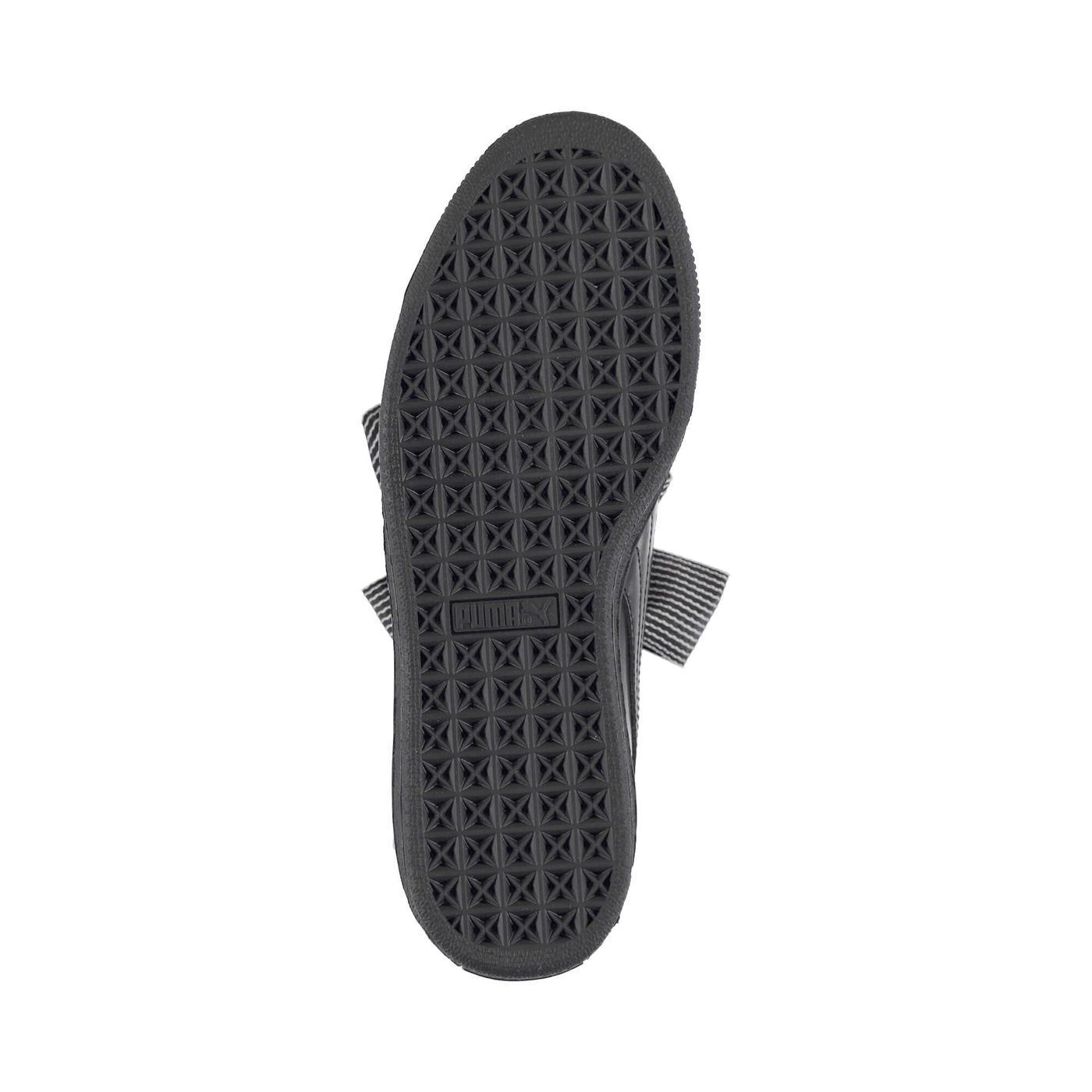 Puma Basket Heart Patent Kadın Siyah Sneaker