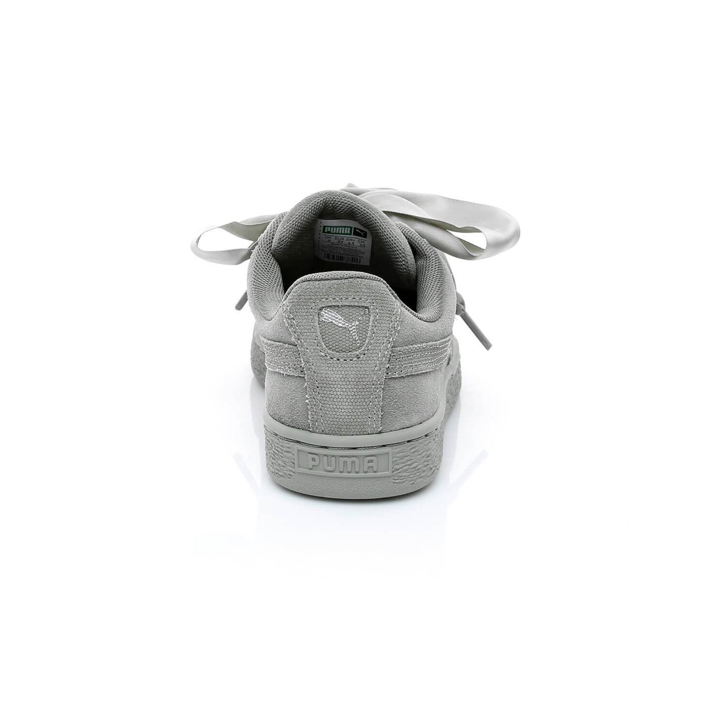 Puma Suede Heart Pebble Kadın Gri Spor Ayakkabı