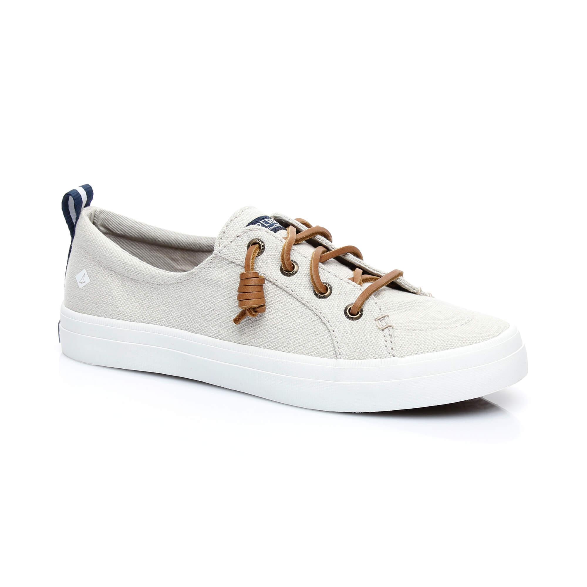 Sperry Crest Vibe Linen Kadın Gri Sneaker