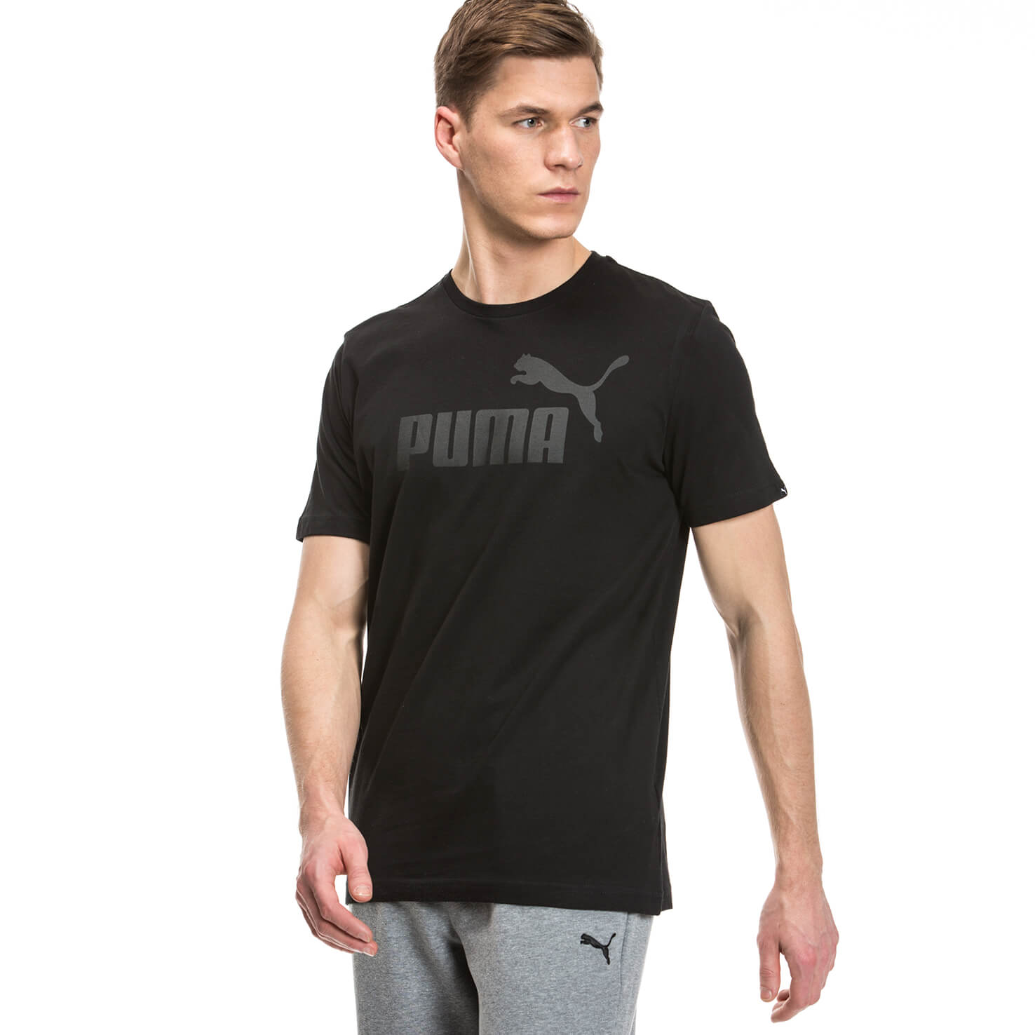 Puma Ess No 1 Tee Erkek Siyah Tshirt