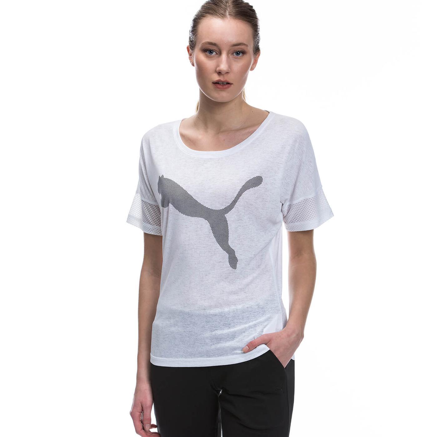 Puma Loose Tee Kadın Beyaz TShirt