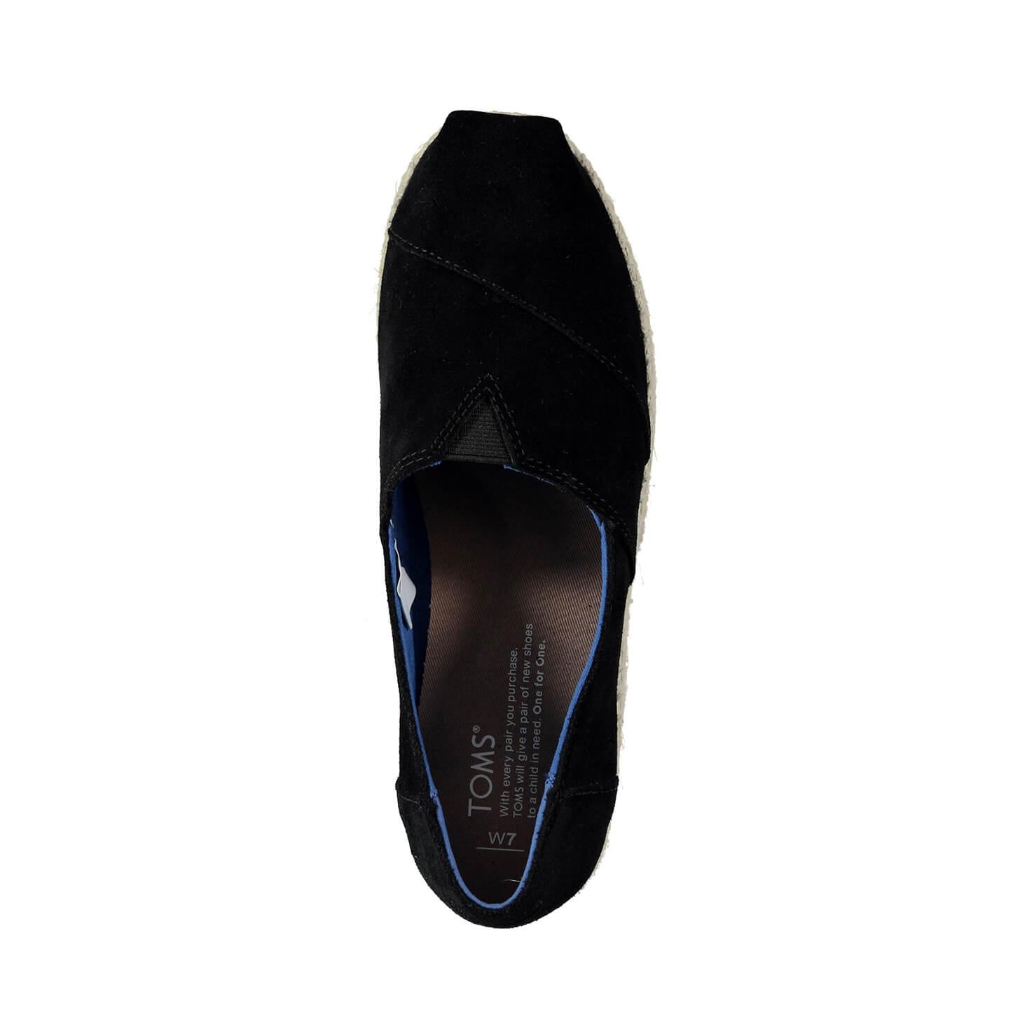 Toms Platform Alpargata Siyah Kadın Espadril