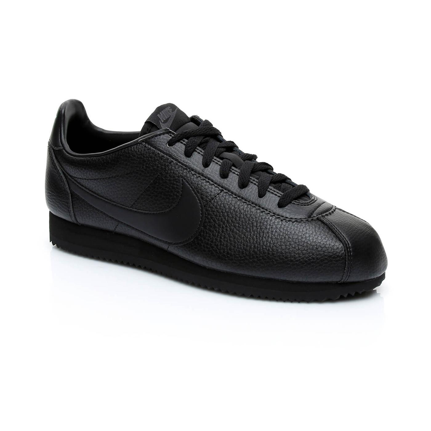 Nike Classic Cortez Leather Erkek Siyah Sneaker