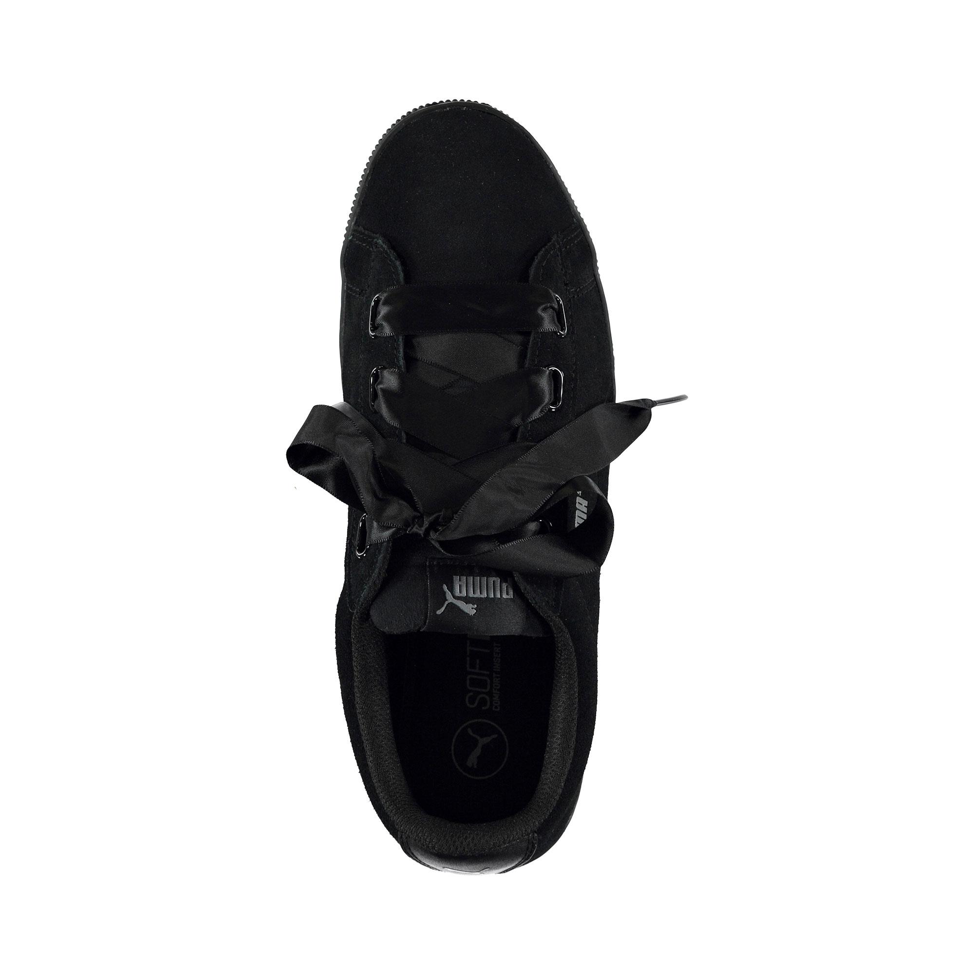 Puma Vikky Platform Ribbon Kadın Siyah Sneaker