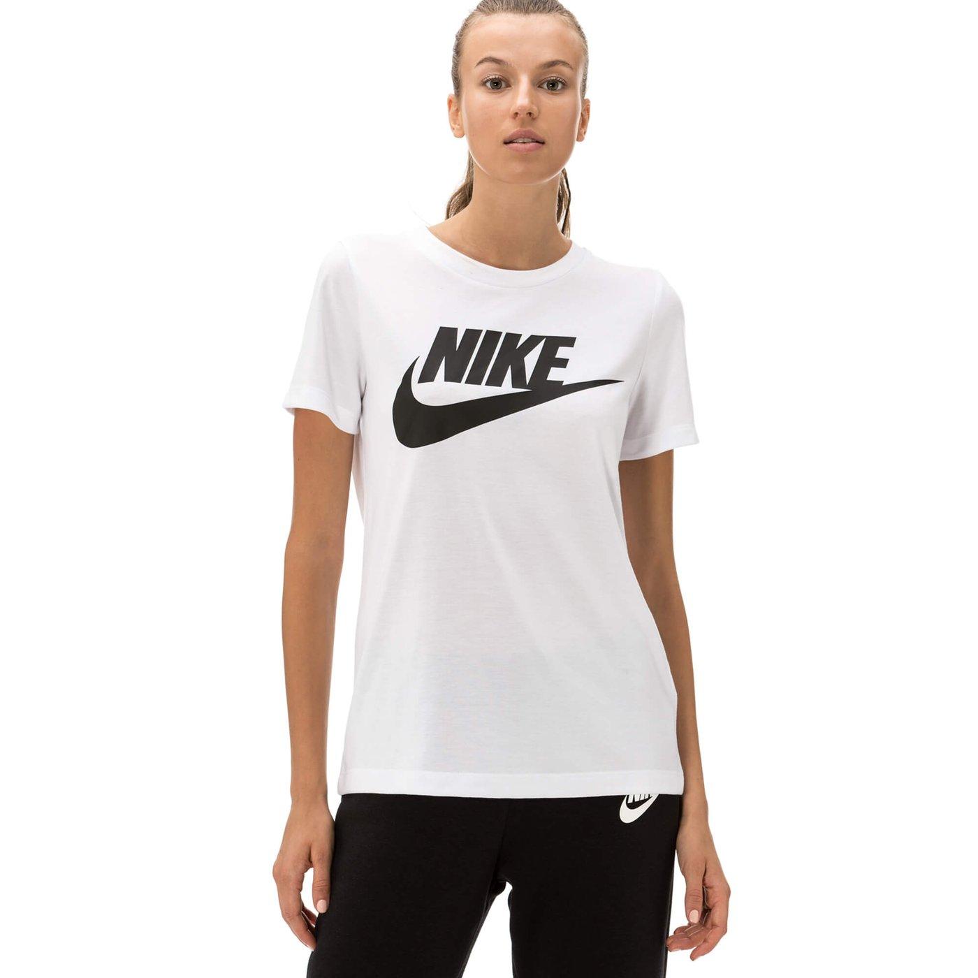 Nike Essential Hybrid Kadın Beyaz Tshirt