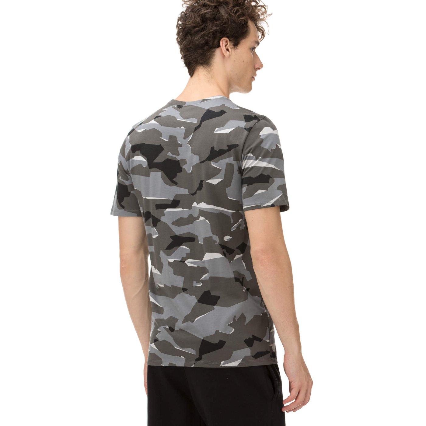 Nike Erkek Kamuflaj Gri T-shirt